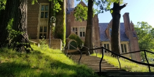 Founders Hall in the summer.