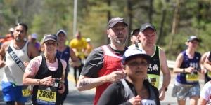 A Wellesley professor runs in the Boston Marathon.