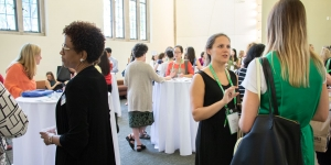Alumnae gather at a Career Ed event