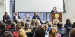 Eni Mustafaraj gives a talk