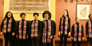 Students sing in Harambee House.