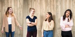 Emily Pearson '20, Olivia Postel '21, Dayna De La Cruz '21, and Saanthia Vivekanand Bulchandani '21
