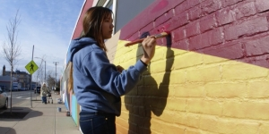 Allston Commissions Wellesley Art Professor to Create Outdoor Mural