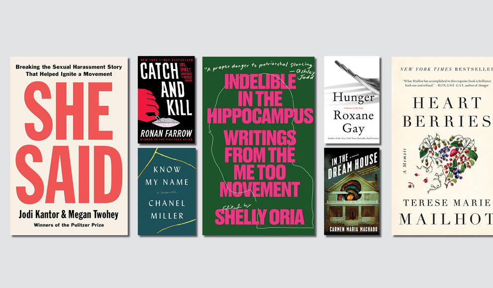 Covers of a variety of #MeToo reading list books