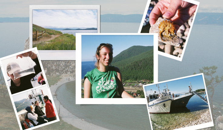 photo collage of images from the authors trip to Lake Baikal