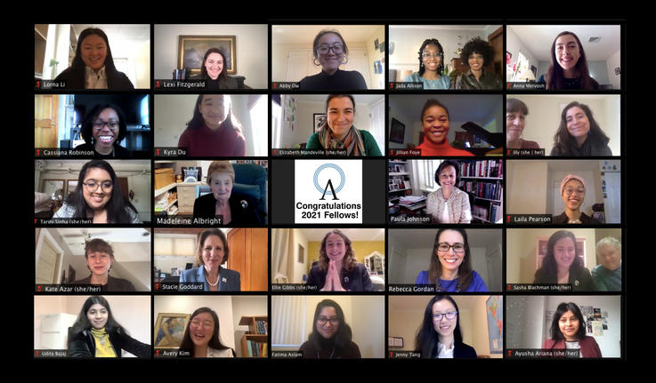 collage of zoom view of albright fellows