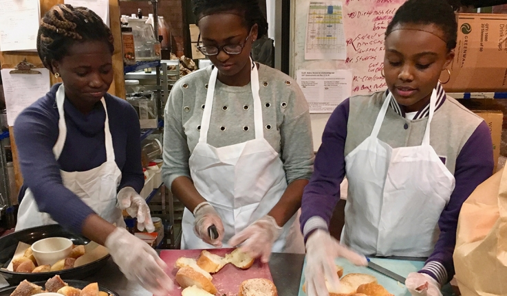 MasterCard Foundation Scholars Work and Learn During a Day of Service at Haley House Bakery Café