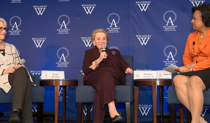 From Left to Right: Wendy Sherman, Madeline Albright, and Paula Johnson