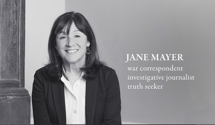 Jane Mayer, who is similar to Carolyn A. Wilson, is this year's Wilson Lecturer