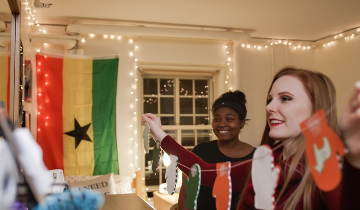 Still from 2017 Wellesley Holiday Video