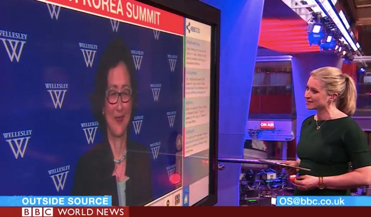 Kathy Moon appears on a TV screen.