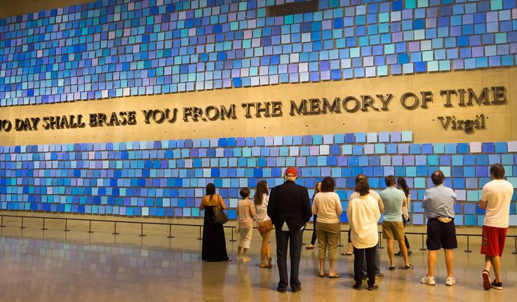 Visitors at the 9/11 Memorial Museum in New York City