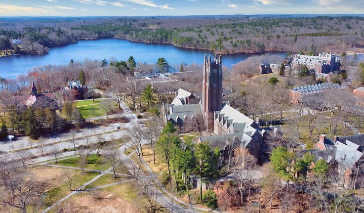 Aerial photo of Wellesley College