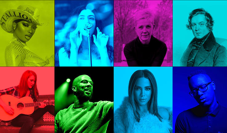 collage of musical artists