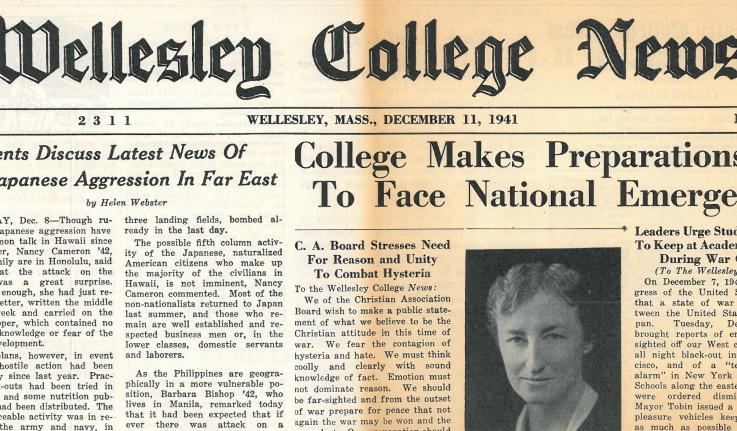 Wellesley College News, December 11, 1941