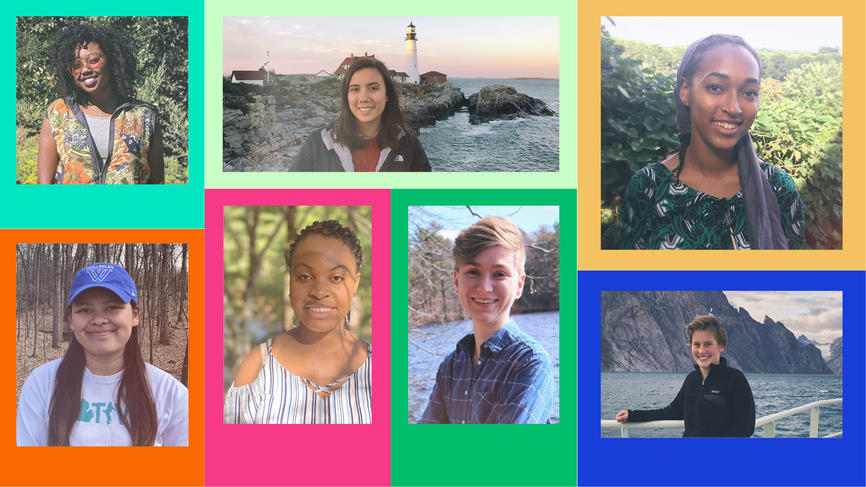 photo collage of frost student ambassadors