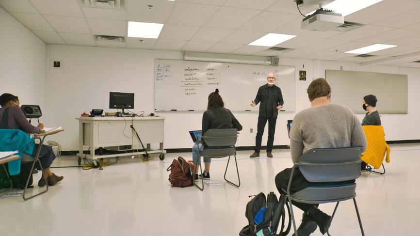 Thomas Hodge teaching