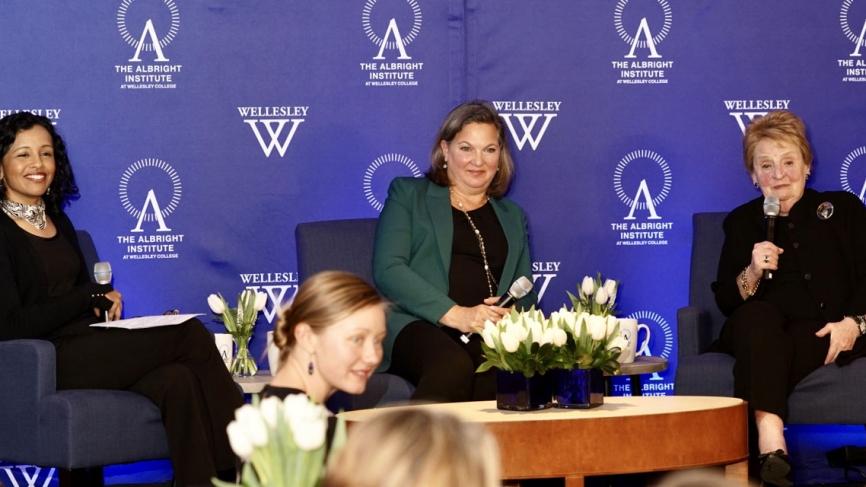 Sec Albright joins Ambassador Nuland and a Wellesley professor on Stage
