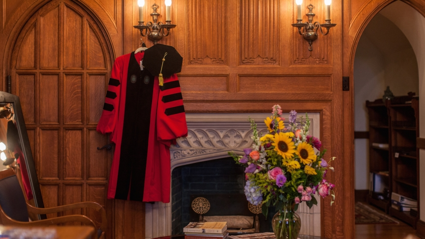 Robe hanging in the president's office