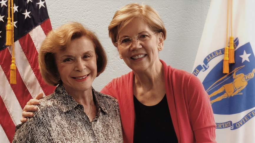 Massachusetts State Senator Harriette Chandler and U.S. Senator Elizabeth Warren.