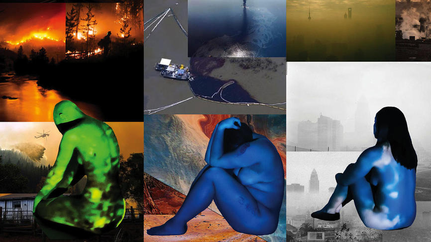"""collage of images of """"Connection Zero: home and the body"""""""