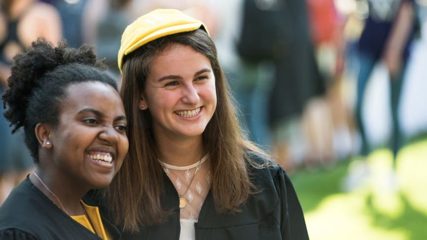 Two seniors commemorate their final Convocation as Wellesley undergraduates.