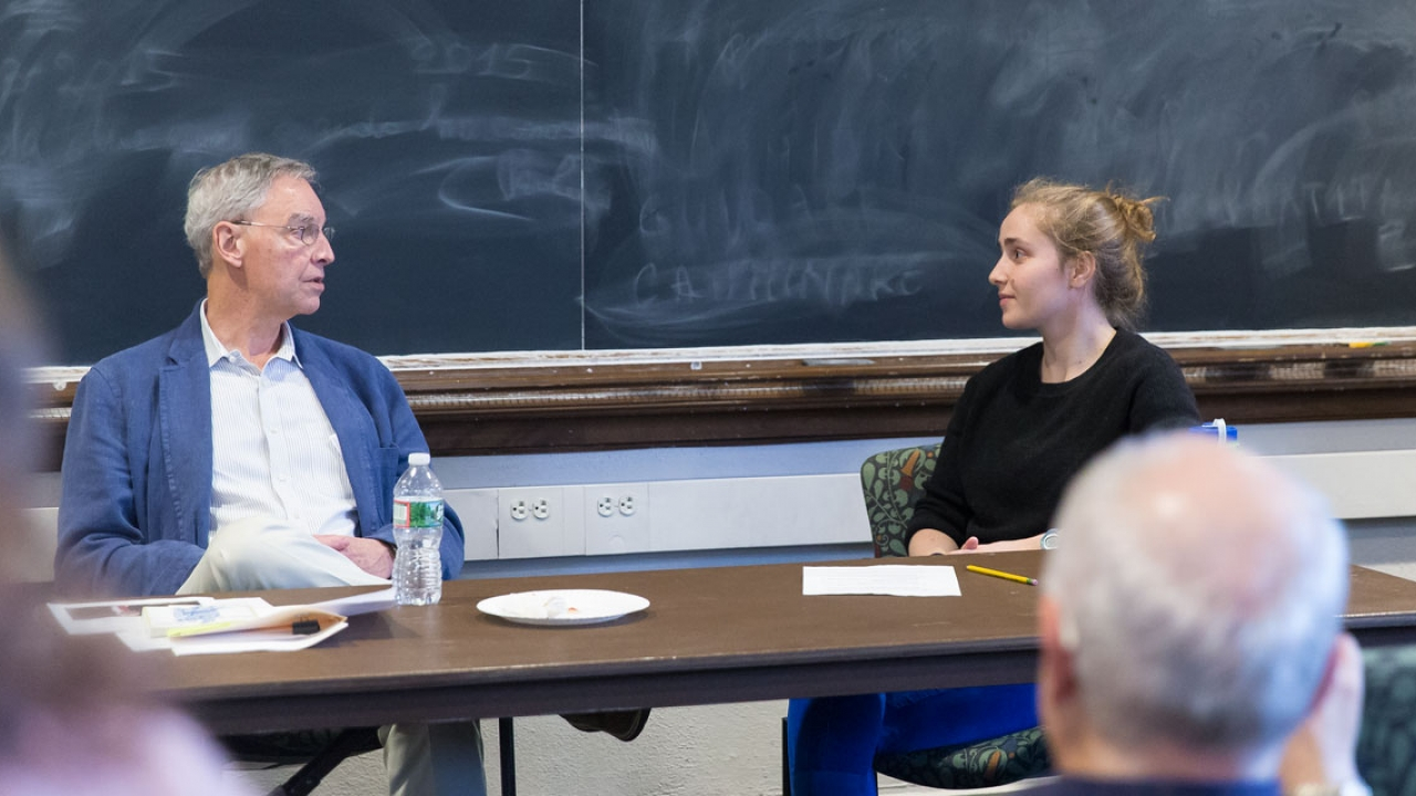Bill Littlefield and Zoë Sobel '14