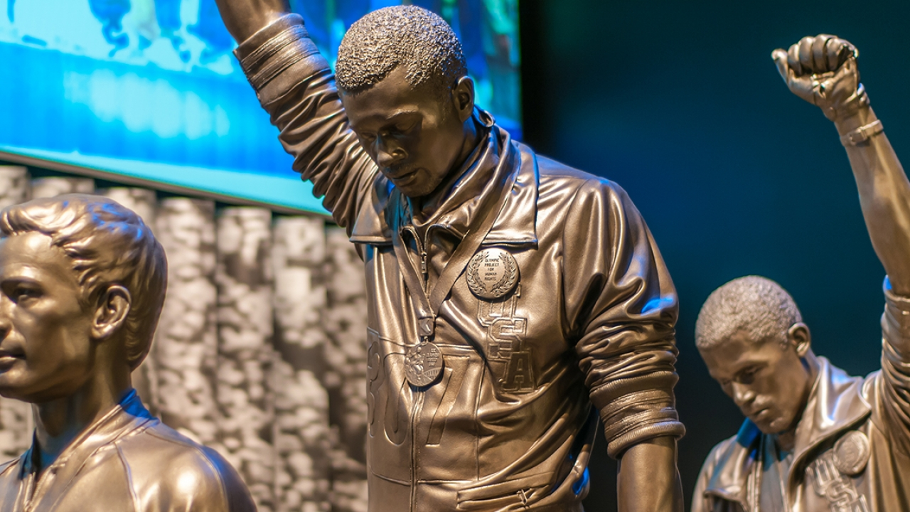 Tommie Smith Statue at National Museum of African American History and Culture