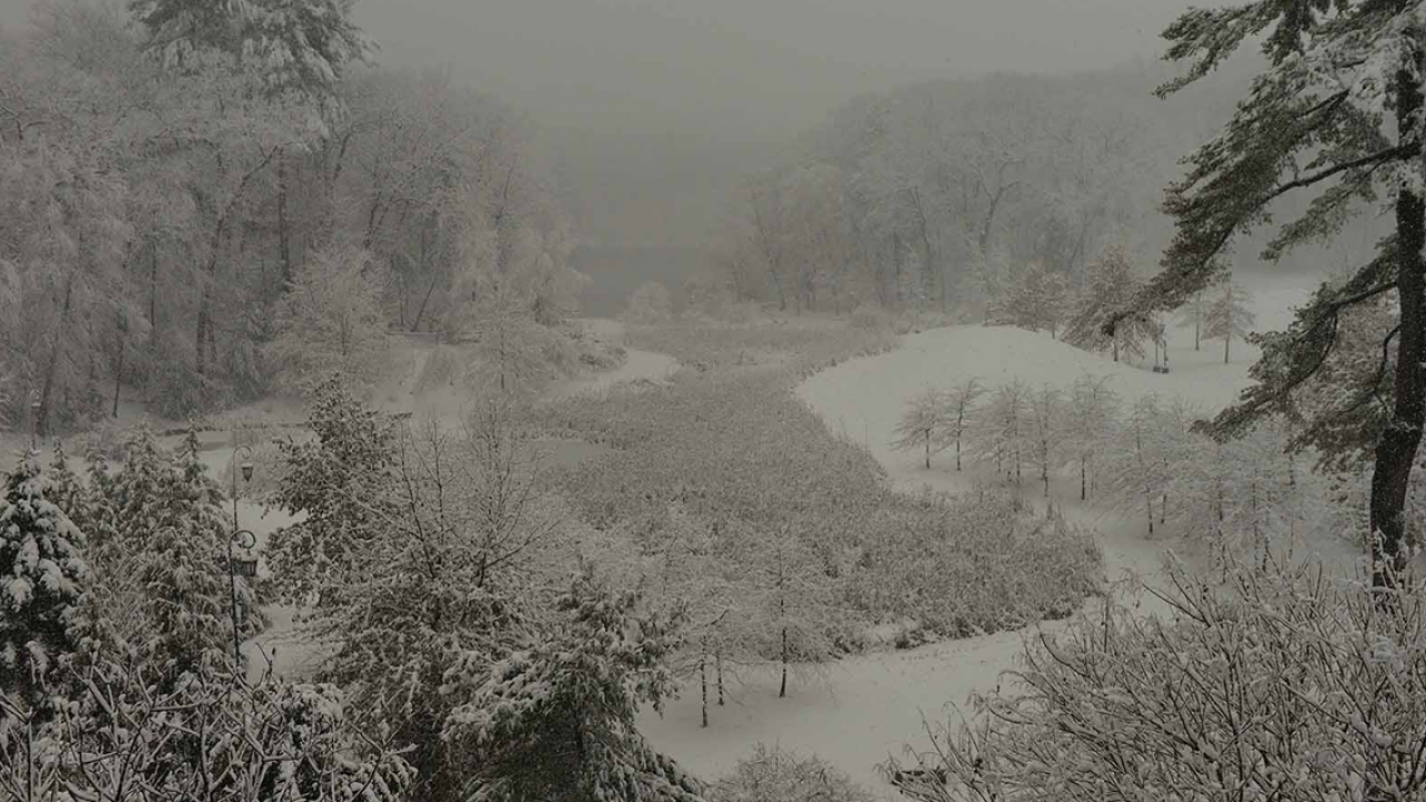 Alumnae Valley under a blanket of snow in 2016.