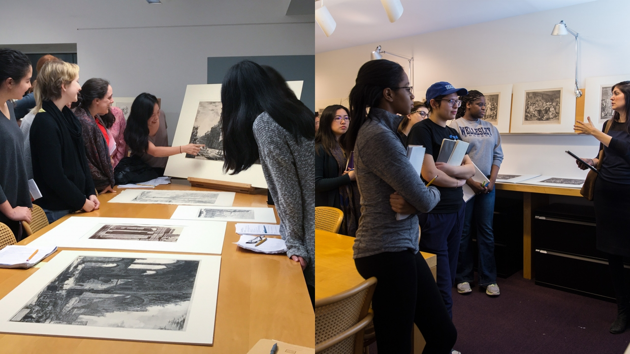Wellesley students Captivated by two different Art History Classes