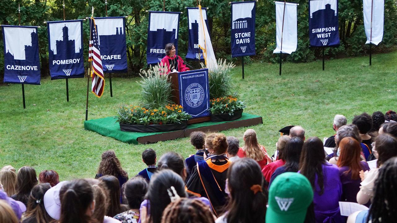 president johnson addresses convocation