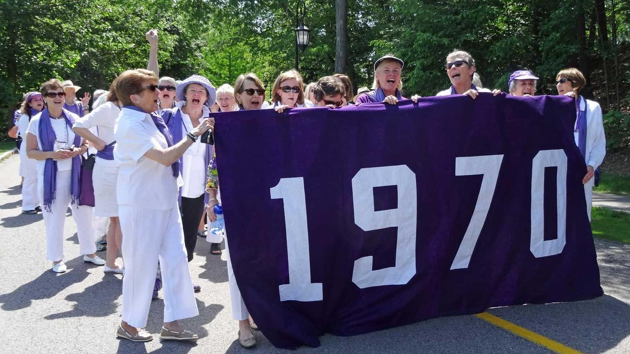 Members of the class of 1970 during their reunion.