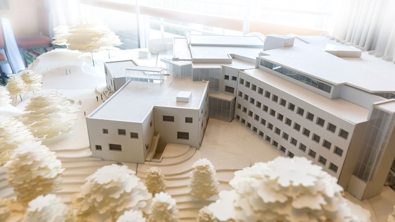 A model of the new science center.