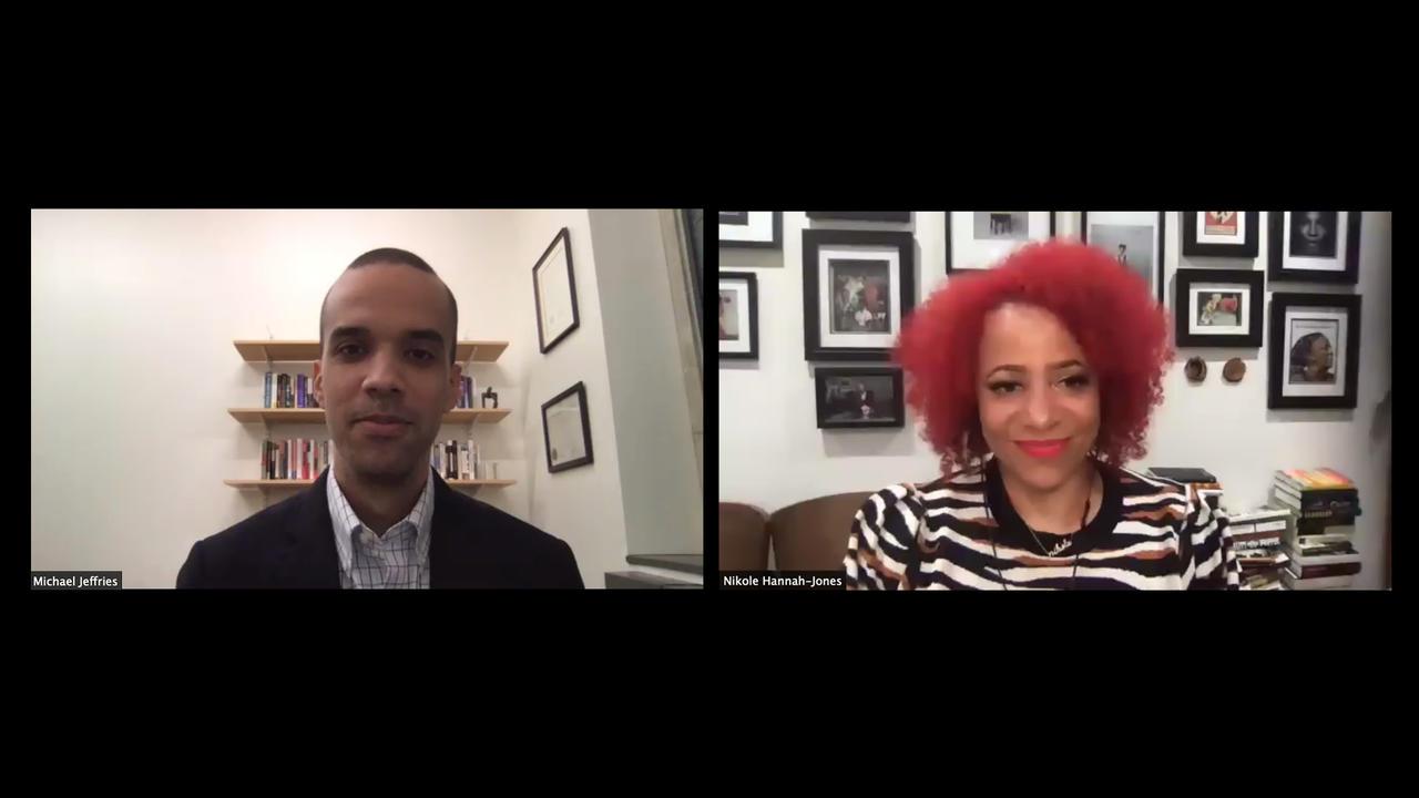 Michael Jeffries and Nikole Hannah-Jones