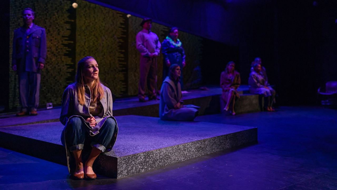 Members of the Wellesley Repertory Theatre during a performance of A Piece of My Heart