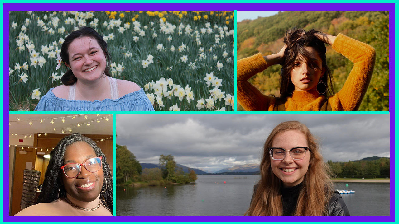 A grid showing four students who are participating in this year's Ruhlman Conference—all head shots.
