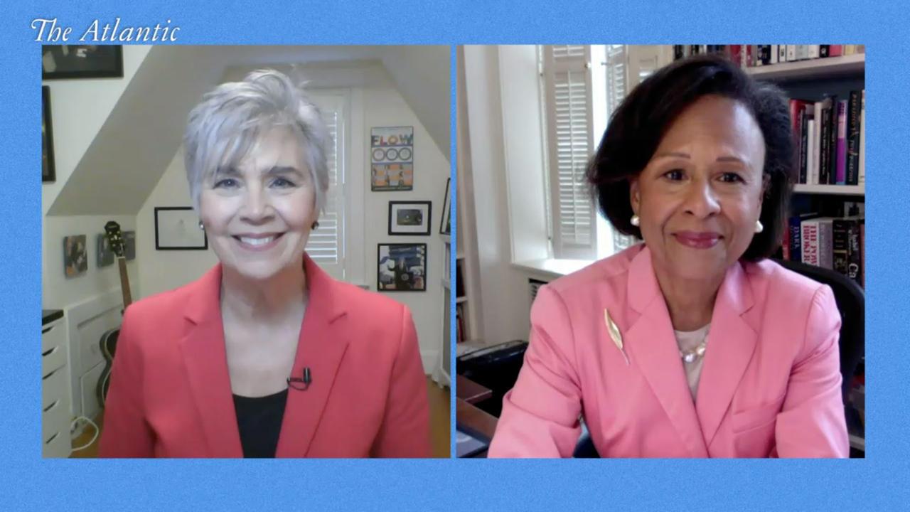 AtlanticLIVE contributor Jeanne Meserve and Paula Johnson talk via zoom