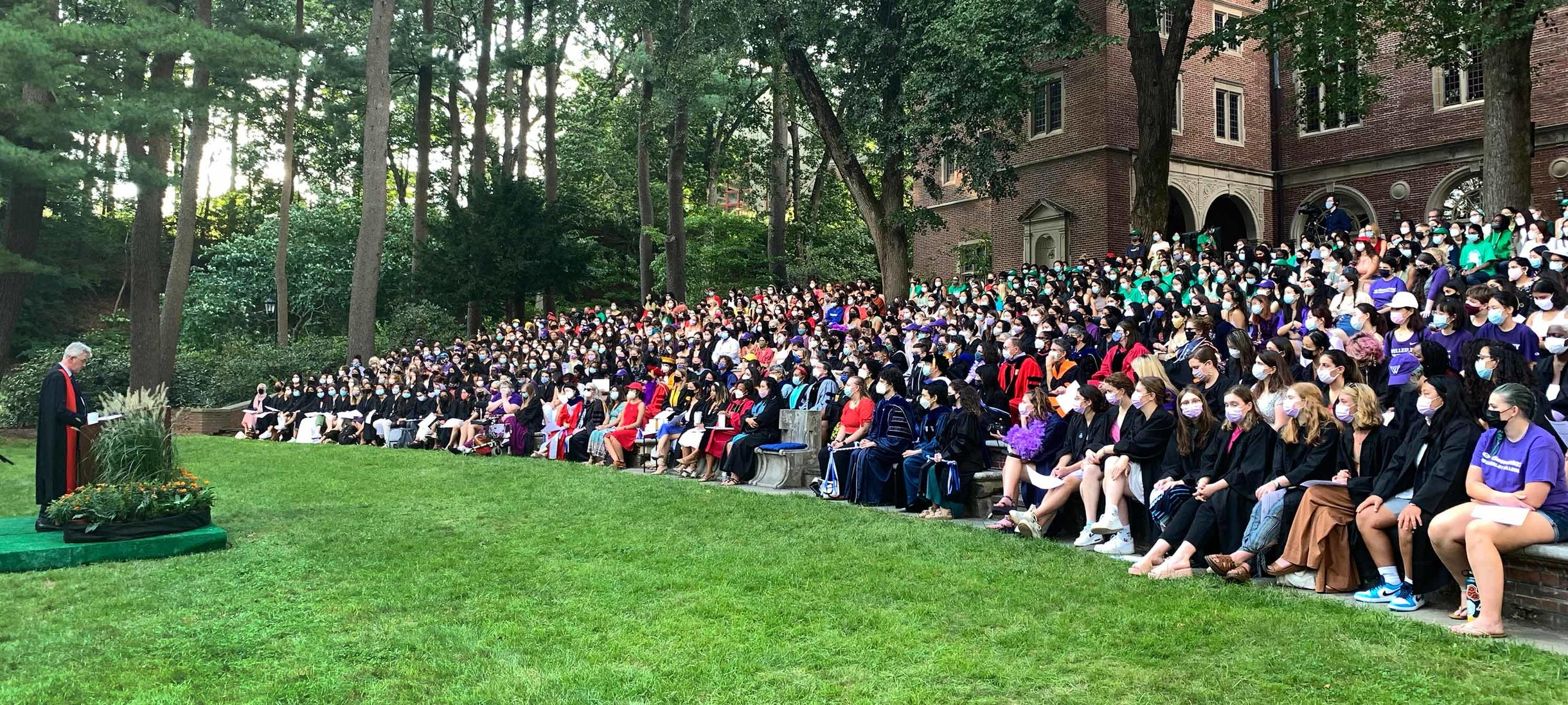 Provost Shennan speaks to a filled Hay Theater