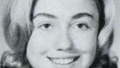 Hillary Rodham '69 (portrait photo for Wellesley College Legenda Yearbook)