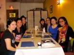 Club Filipina out to dinner
