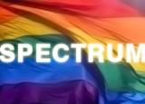 Rainbow flag with Spectrum over it