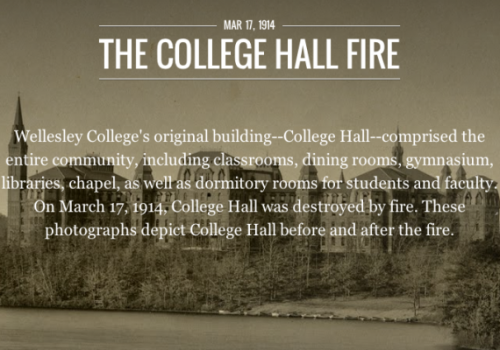 College Hall Fire Exhibit