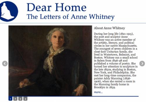 Screen shot of Dear Home transcription page