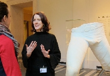 Professor Cassibry at the Metropolitan Museum of Art during her 2013-2014 sabbatical.