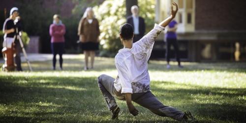 dance performer outside