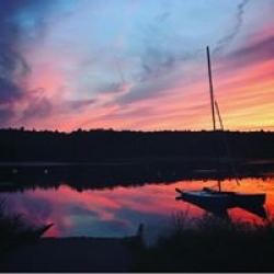 Lake Waban sunset