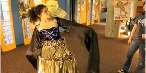 wearable tech dress in motion