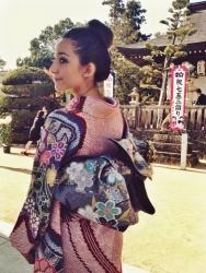 women in tradition kimono