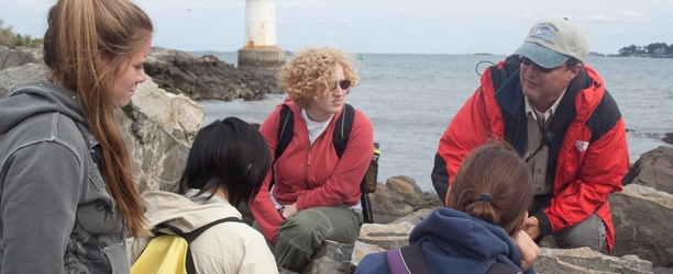 Students studying in Cape Ann