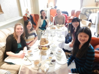 Group having Tea in Oxford